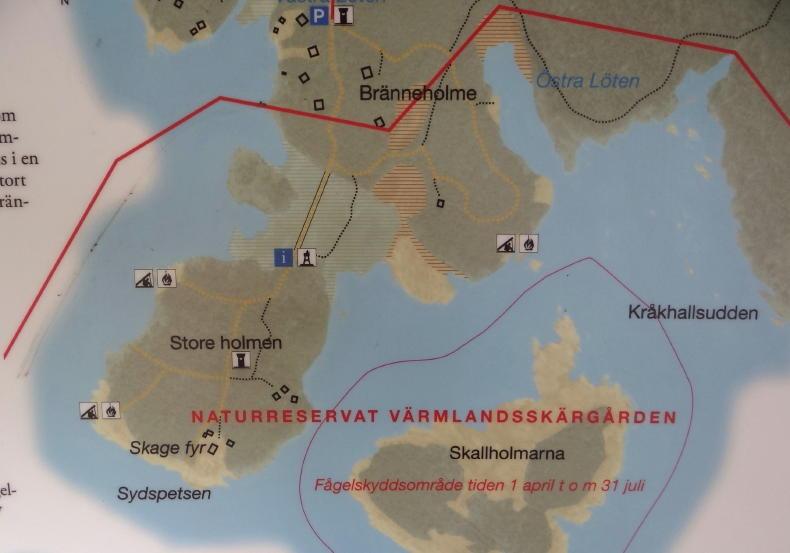Hammarö südlich von Karlstad