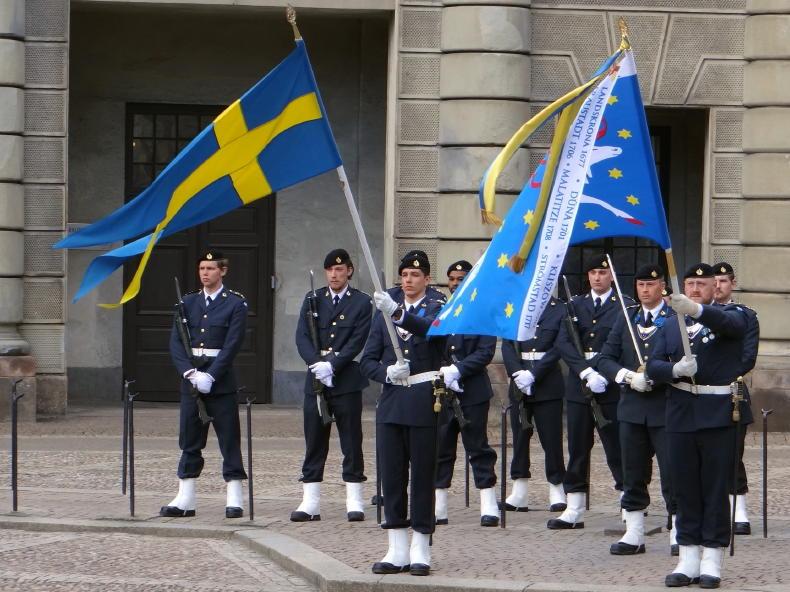 Wachablösung am Königlichen Schloss, Stockholm