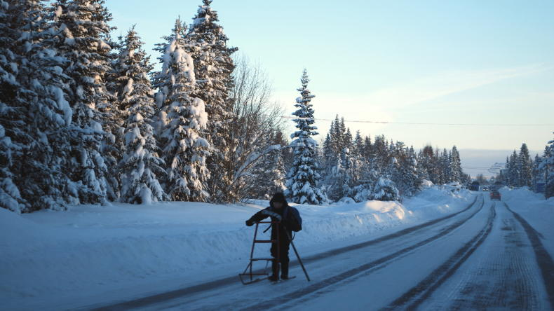 Lappland im Winter