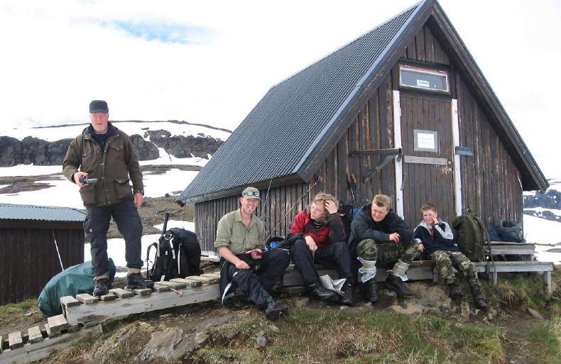 Nothütte auf dem Tjäktja-Pass