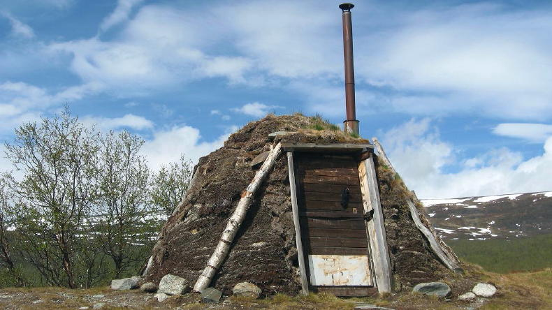 Hütte der Sami