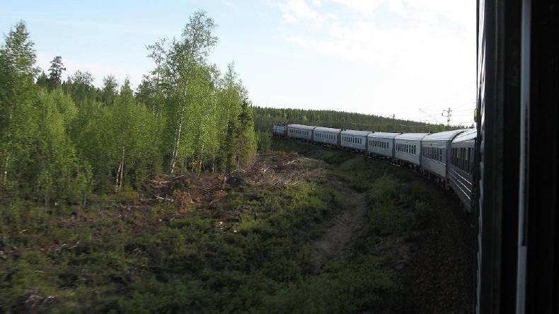 Zugfahrt nach Abisko