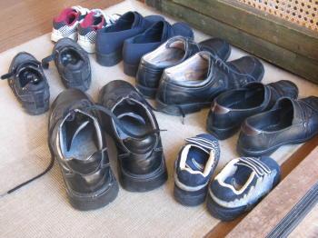 Schuhe in Schweden zieht man aus
