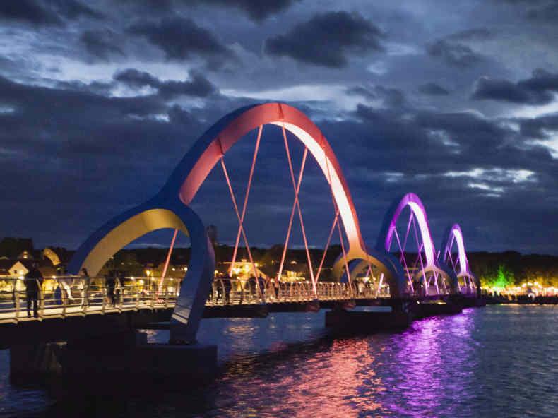 Die Fußgängerbrücke von Sölvesborg wird eingeweiht