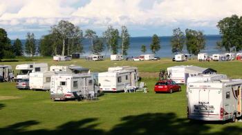 Breviks Camping in Hjo am Vättern