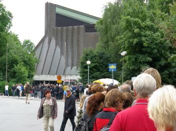 Schlangen vor dem Vasa-Museum