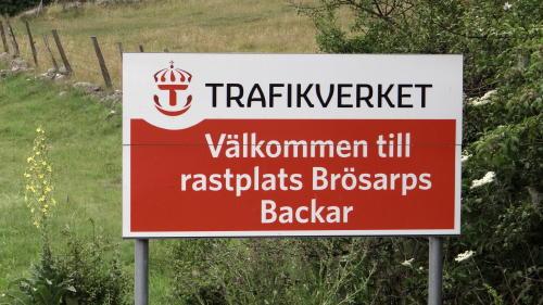 Rastplatz Brösarps Backar in Österlen, Skåne