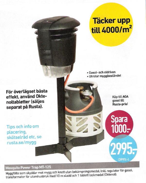 Mückenfalle in Schweden