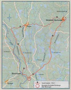 Wanderweg in Orsa: Skräddar-Djurberga — Storstupet