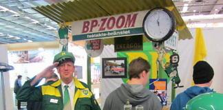 BP Nostalgie-Tankstelle in Björkfors