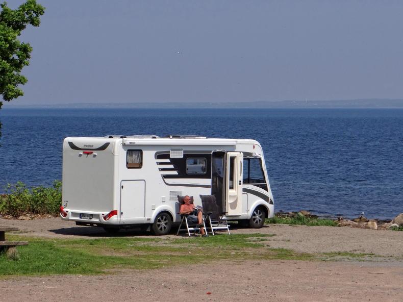 Wohnmobil in Svanshall, Nordseite der Kullen-Halbinsel