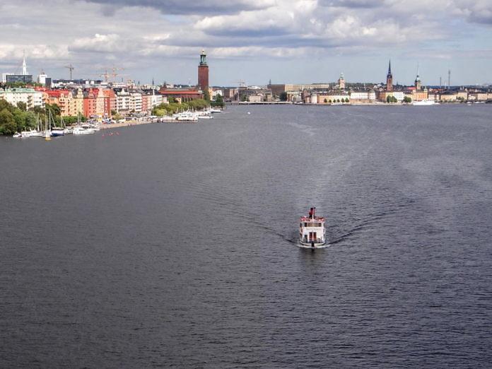 Stockholm von der Västerbron aus gesehen
