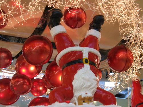 Der Weihnachtsmann im Einkaufzentrum Nordstan