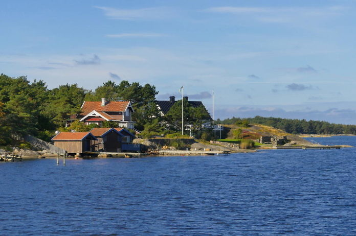 Särö am Meer in der Gemeinde Kungsbacka, Nord-Halland
