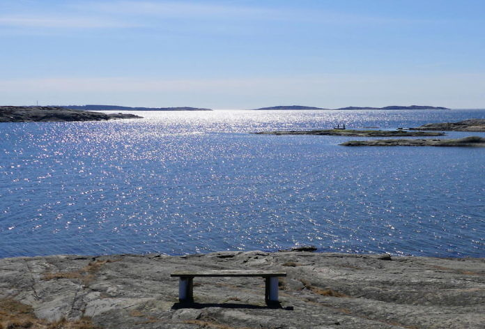 Åsa - Blick von der Strandpromenade Anfang April