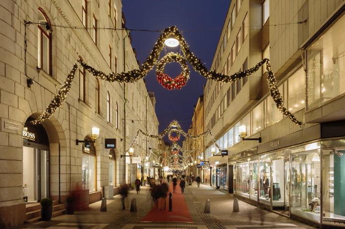 Weihnachtsbeleuchtung in Stockholm City - Mit Karte - #Stockholmsjul