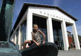 Eingang des Marinemuseums in Karlskrona