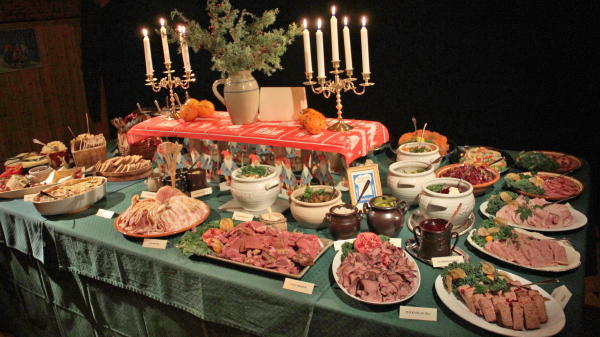 Julbord in Getnö Gård, Småland