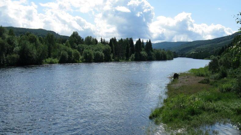 Der Fluss Klarälven in Värmland