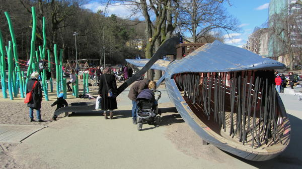 Spielplatz im Slottsskogen in Göteborg