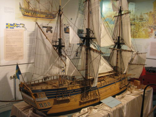 Modell des Segelschiffs Götheborg