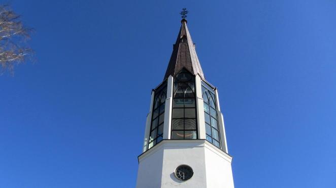 Lichtkirche Skallsjö kyrka in Floda
