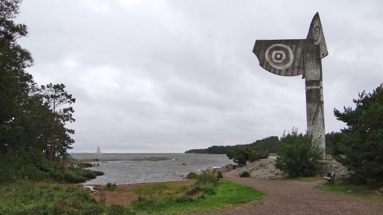 Die Picasso-Skulptur in Kristinehamn am Ufer des Vänern