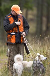 Jäger mit Spürhund