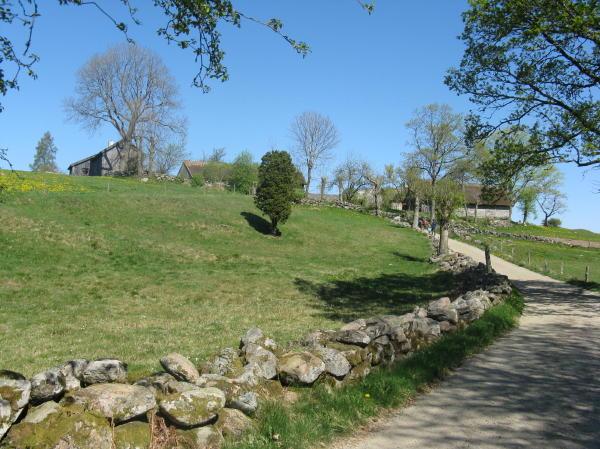 Das Dorf Äskhult nahe Kungsbacka, Halland