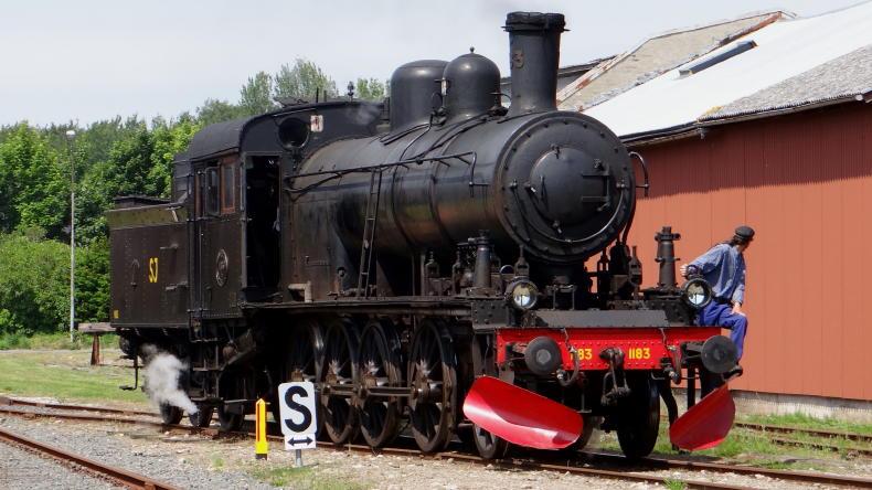 Dampfzug in Österlen