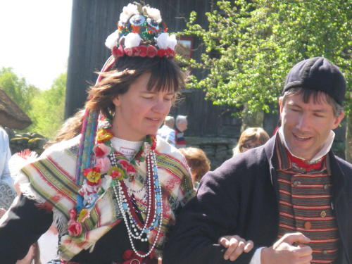 Eine schwedische Bauernhochzeit im Mai, Dorf Äskhult, Kungsbacka
