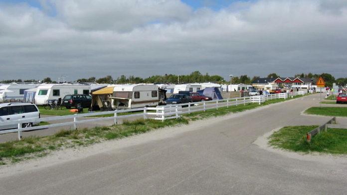 Björkängs Camping bei Varberg in Halland: direkt am Meer gelegen