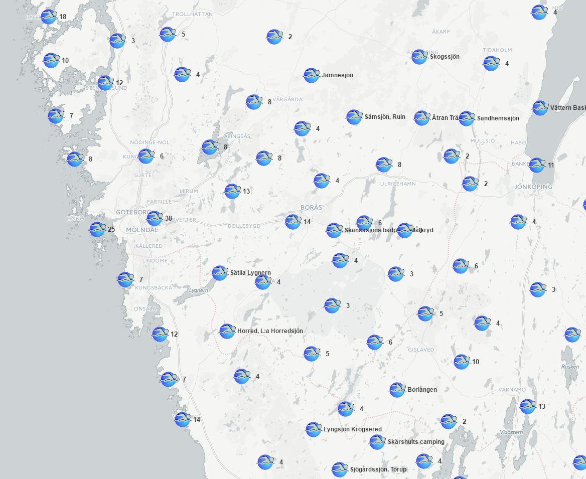 Karte Schweden Zum Ausdrucken.Baden In Schweden Badestellenliste Wasserqualitat