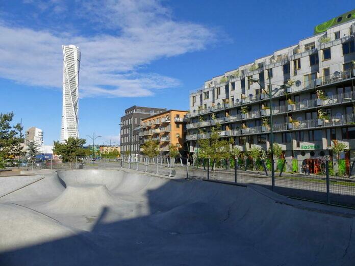 Västra Hamnen, ein neuer Stadtteil mit Uferpromenade und Cafés