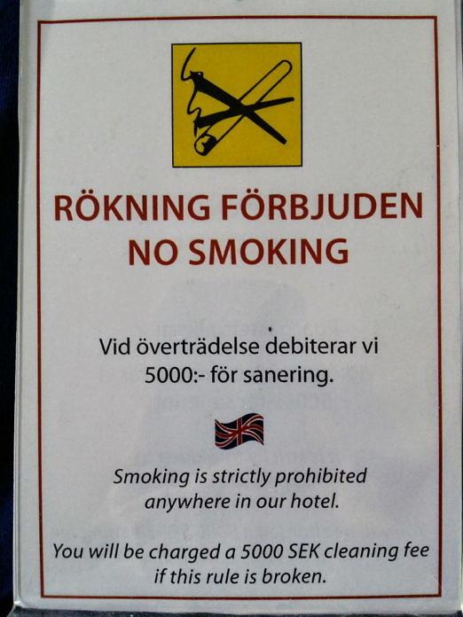 Rauchen in Schweden