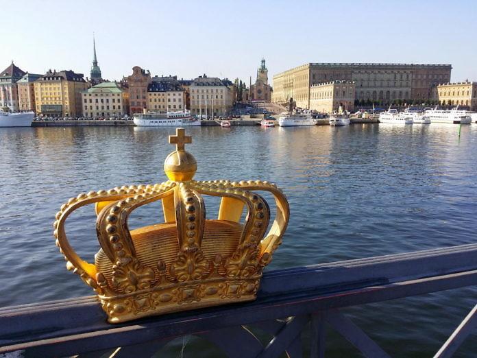 Stockholm Blick aufs Schloss