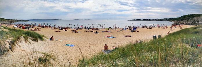 Åsa: Camping, Bad und Strandpromenade in der Gemeinde Kungsbacka
