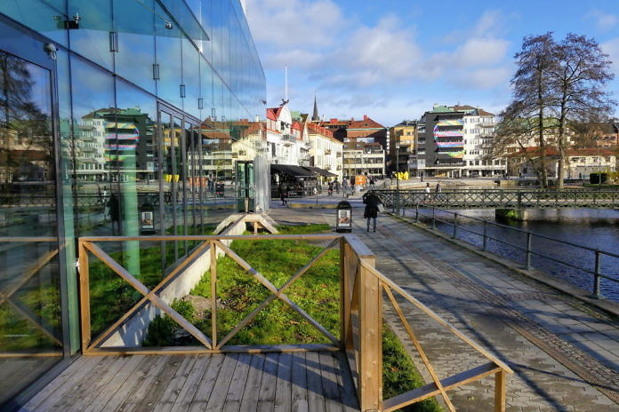 Borås Innenstadt im Herbst