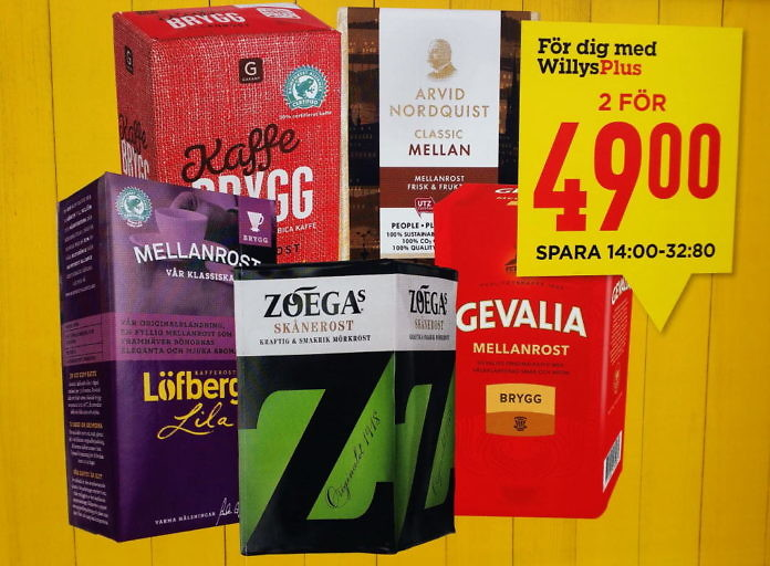 Schwedischer Kaffee - Kaffeemarken aus Schweden - Kaffee als Souvenir