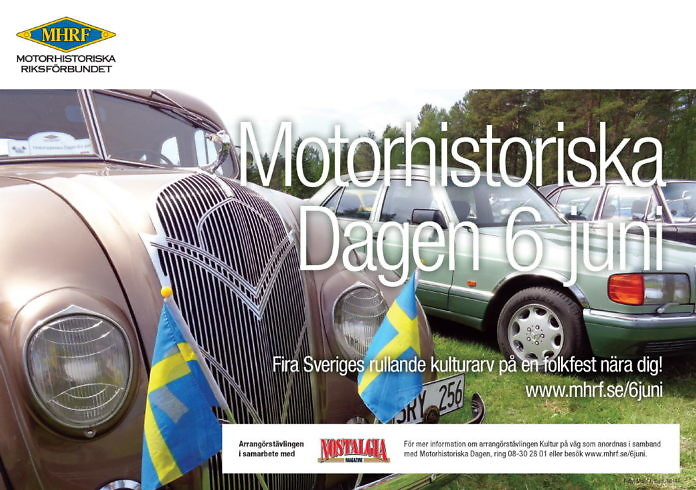 Motorhistorischer Tag am Nationalfeiertag 6. Juni in ganz Schweden