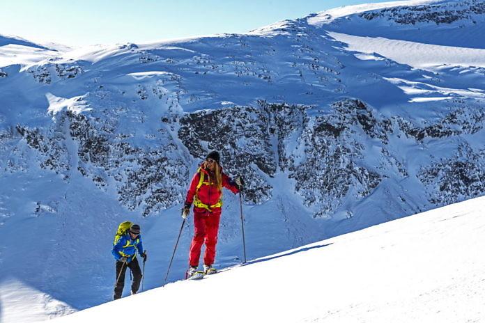 Skiabfahrt in Riksgränsen