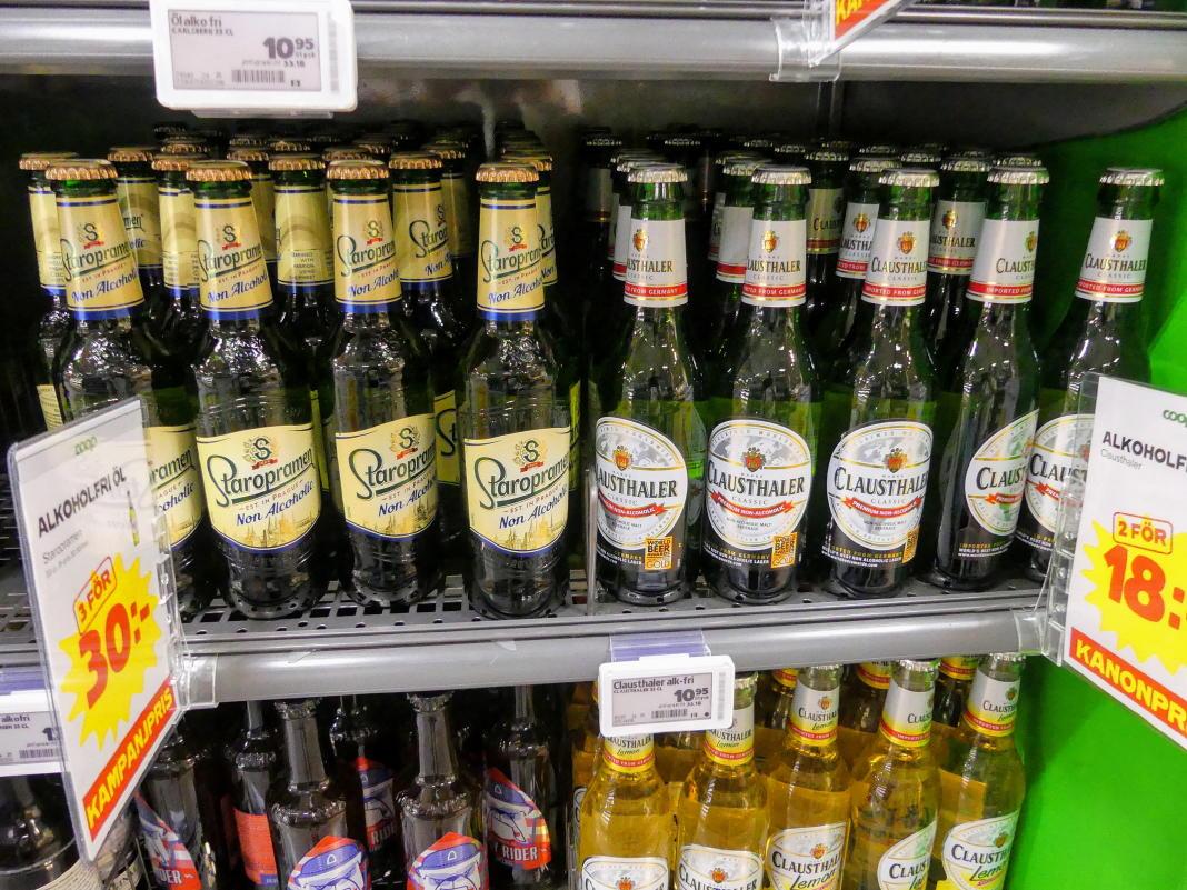 Alkoholfreies Bier in Schweden