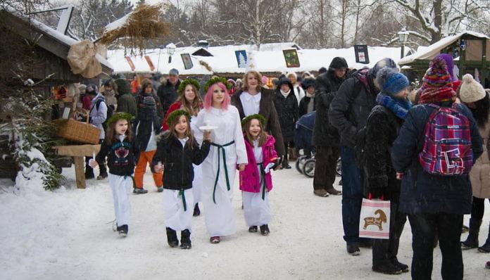 Lucia in Schweden, am 13. Dezember