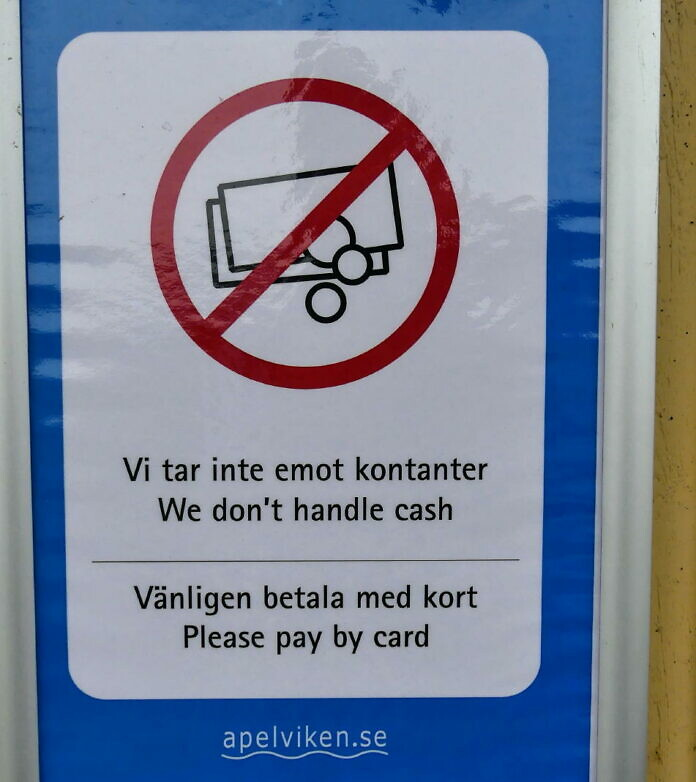 Bargeld oder Kreditkarte? Die aktuelle Situation in Schweden