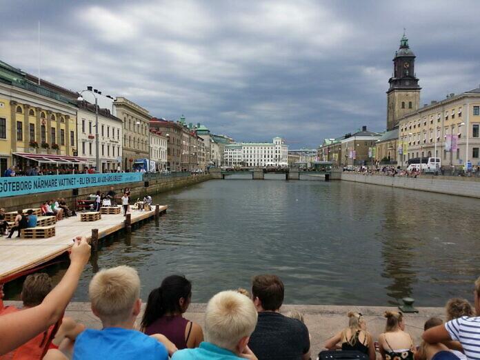 Göteborg an der deutschen Kirche