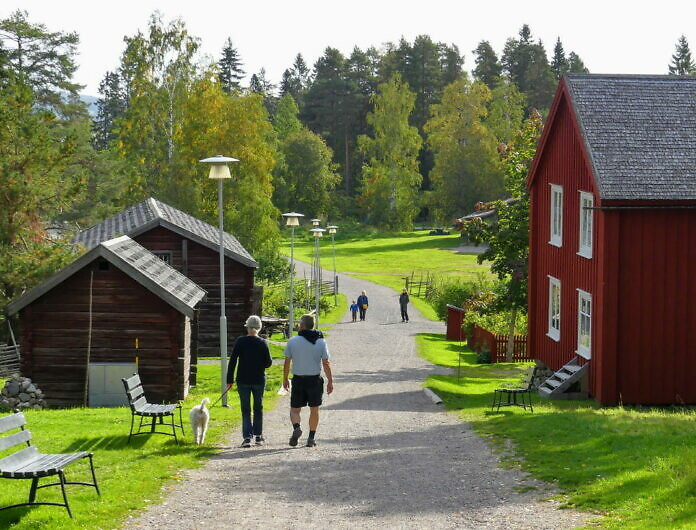 Das Freilichtmuseum Norra Berget in Sundsvall