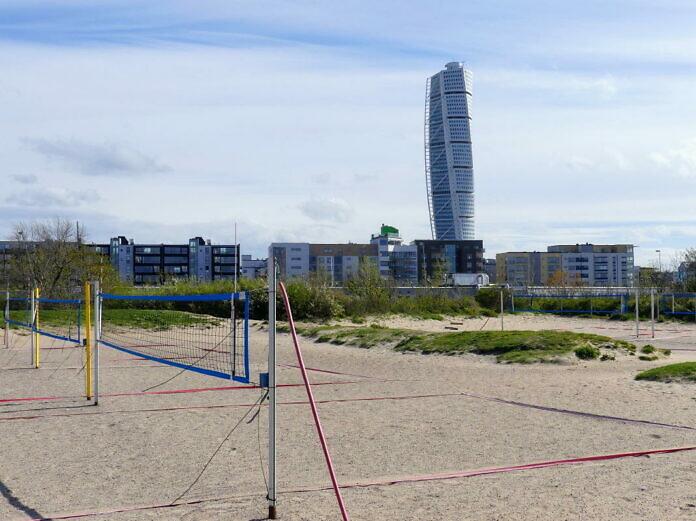 Scaniaparken und Scaniabadet, Malmös Strand am offenen Meer