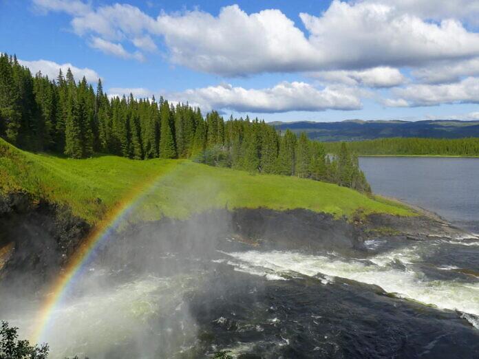Tännforsen, Schwedens größter Wasserfall