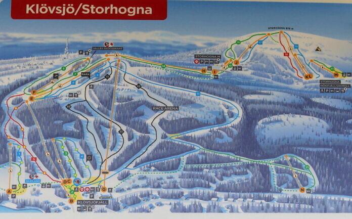 Skigebiet Klövsjö-Storhogna