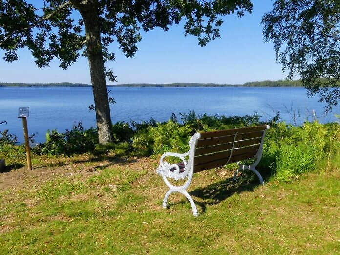 Der See Fegen im Inland von Halland